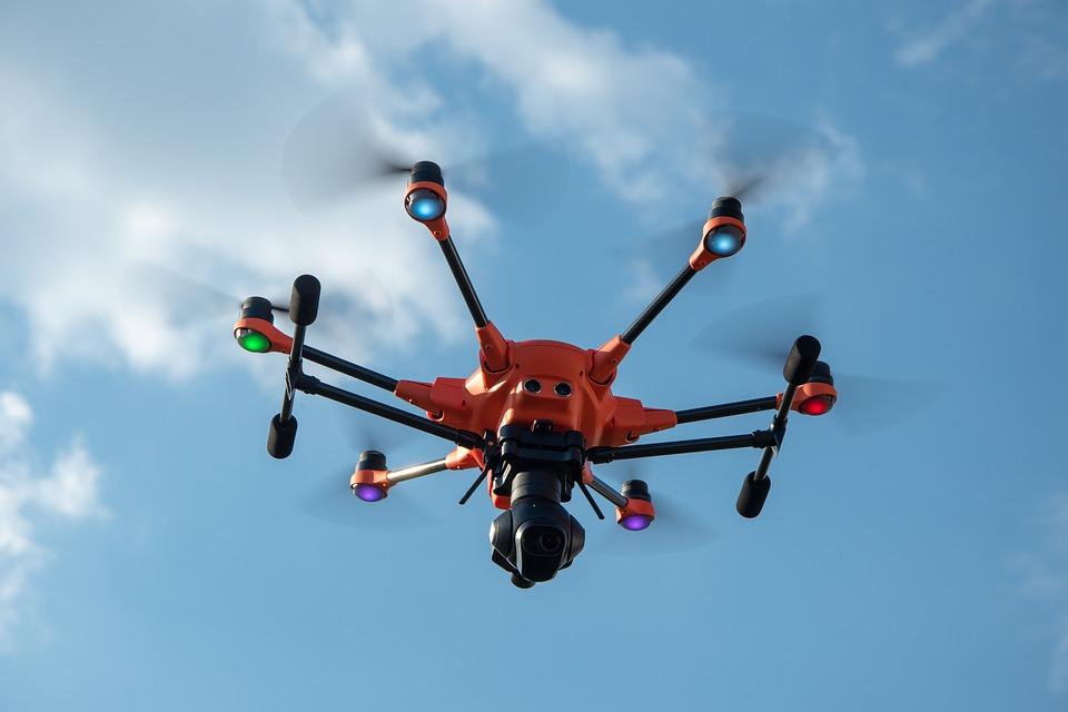měření dronem